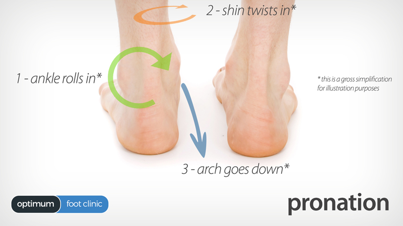 Pronation of the foot and ankle - Plantar Fasciitis